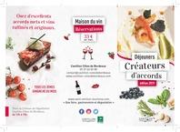 Déjeuners créateurs d'accords - Chateaux en Castillon Côtes de Bordeaux