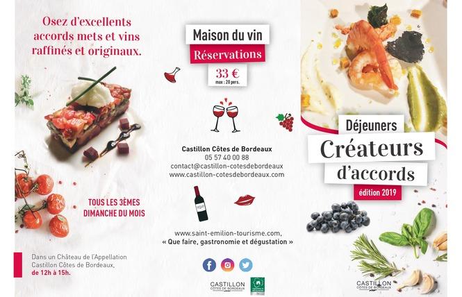 Déjeuners créateurs d'accords - Chateaux en Castillon Côtes de Bordeaux 1 - Castillon-la-Bataille